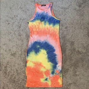 Tie Dye Bodycon Dress